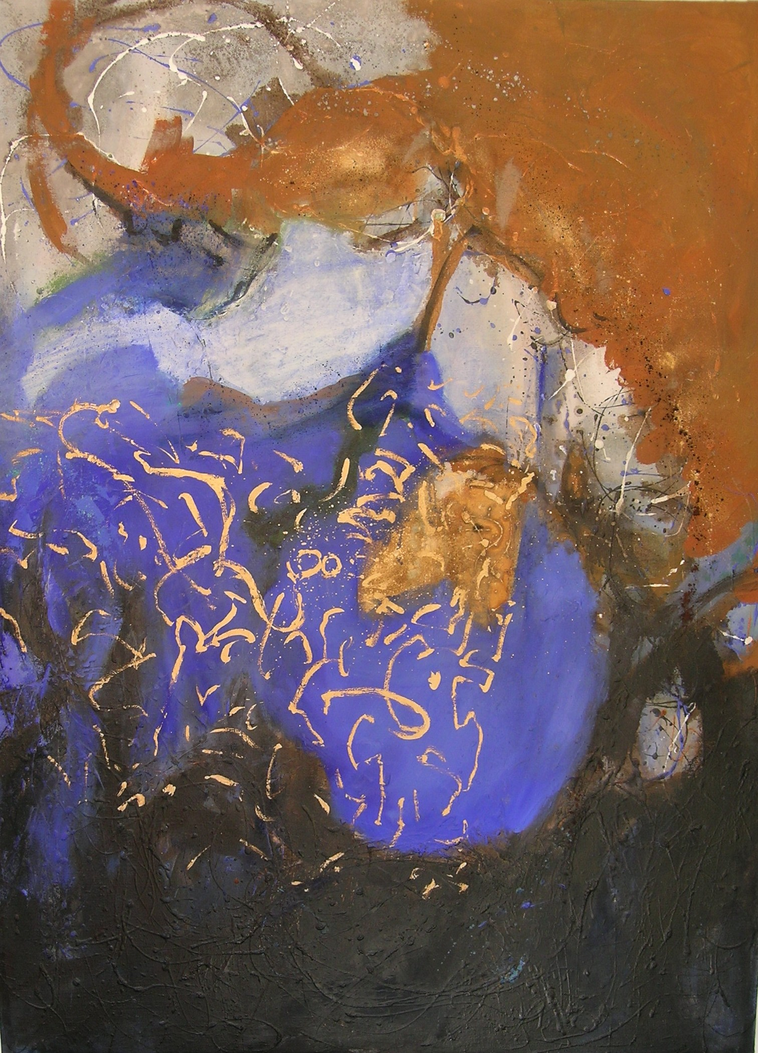 cheval d'or  huile 130x97cm