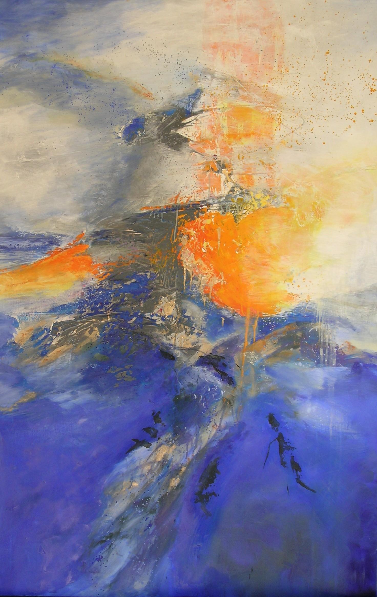 Soleil   huile sur toile  130 x91 cm