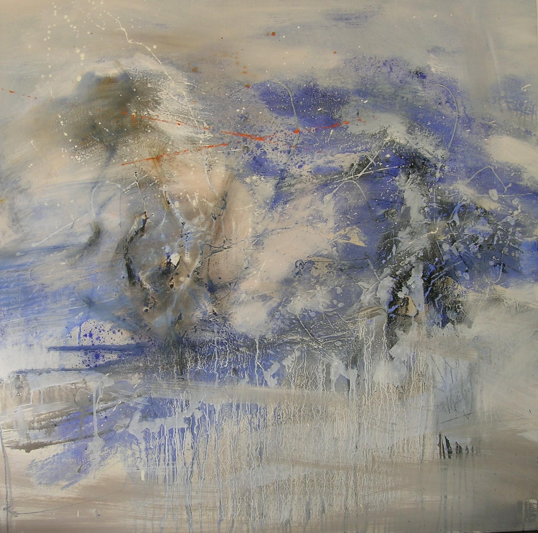 solstice d'hiver huile sur toile 100x100cm collection particulière