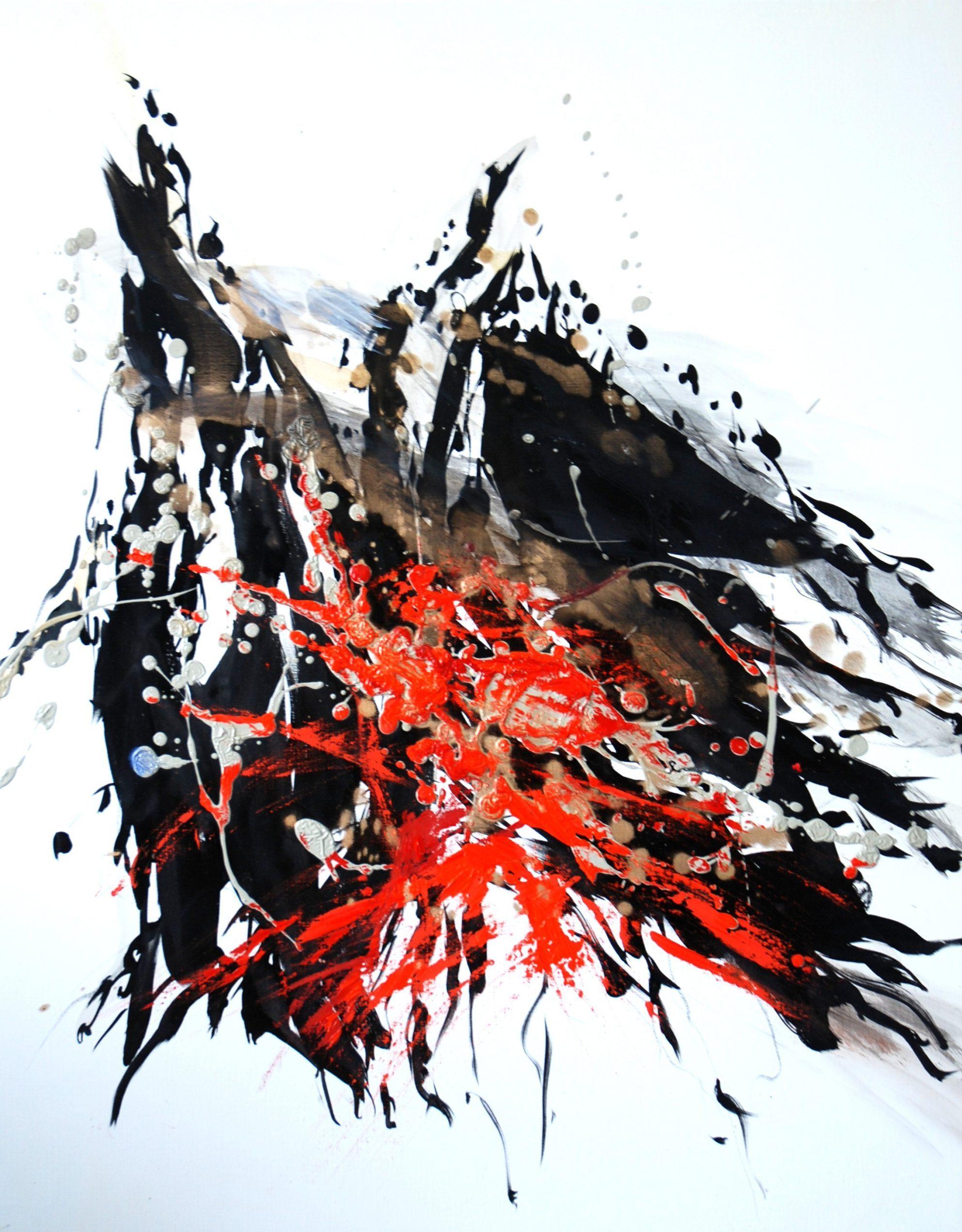 Ange huile sur toile 92 x73cm