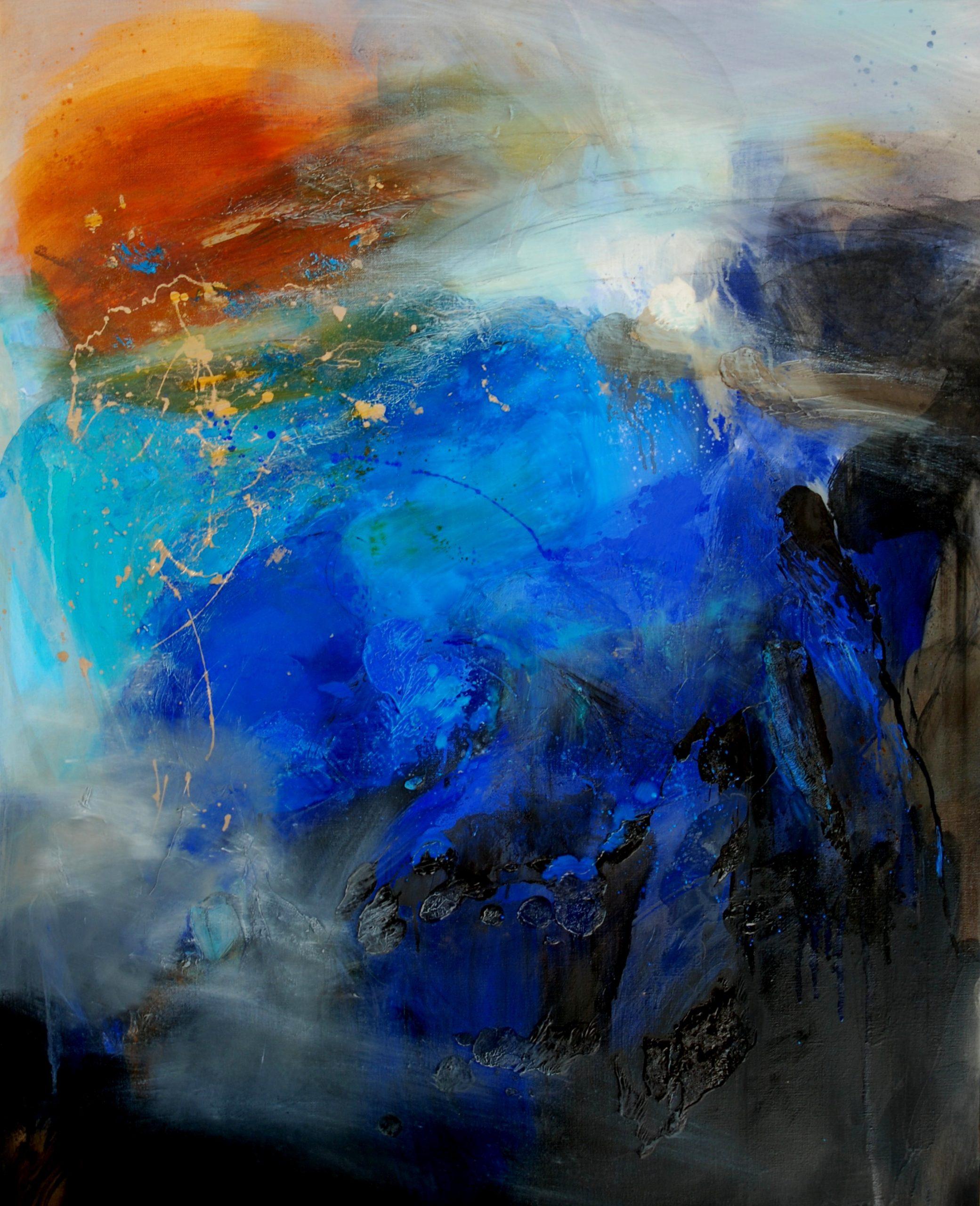 petite géographie    huile sur toile  92 x73 cm