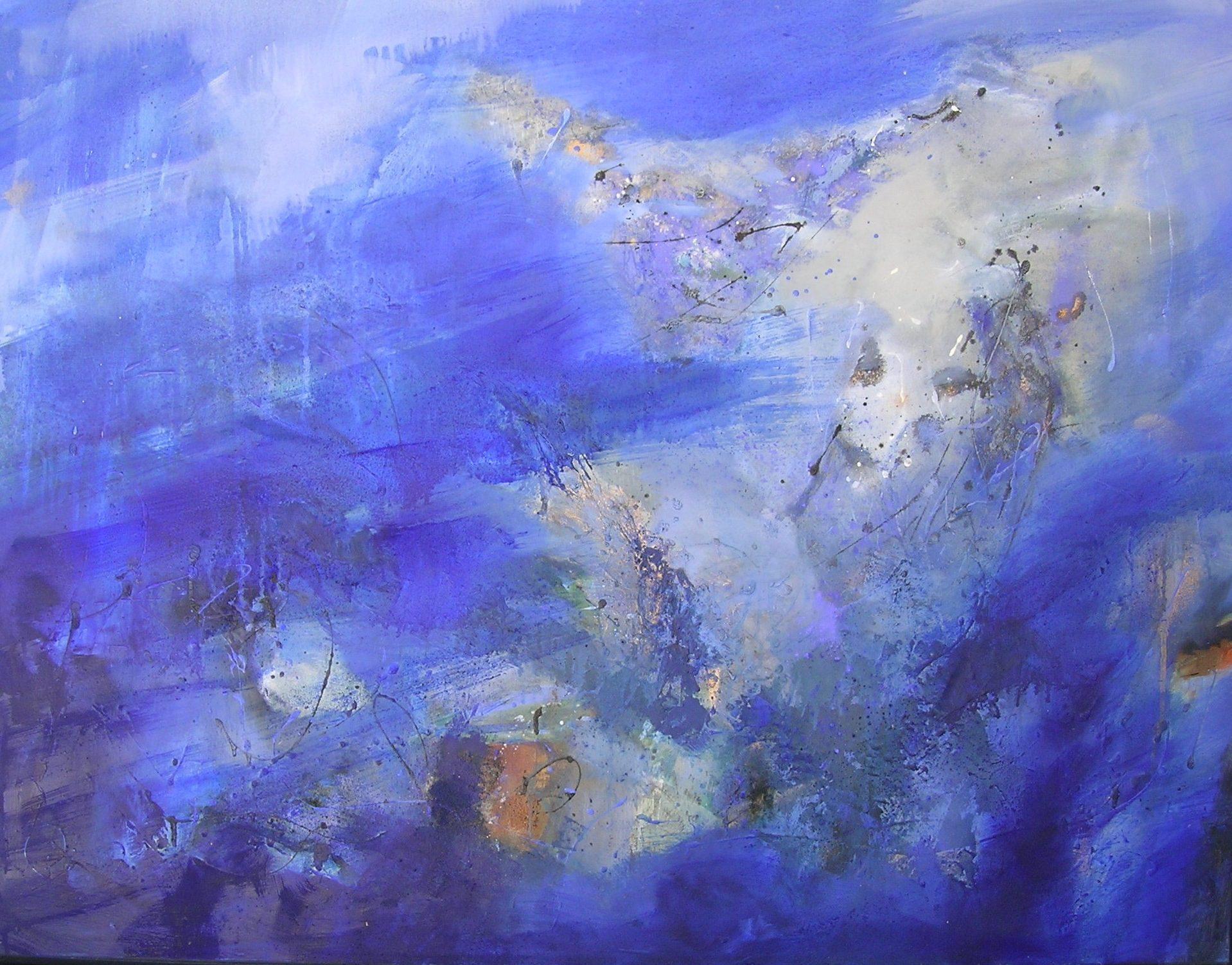 Lame de fond huile sur toile 89 x 116 cm collection particulière