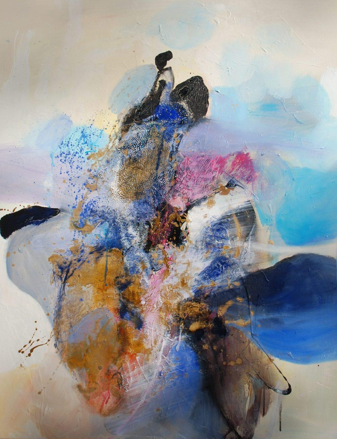 féminin huile sur toile 92x73cm collection privée