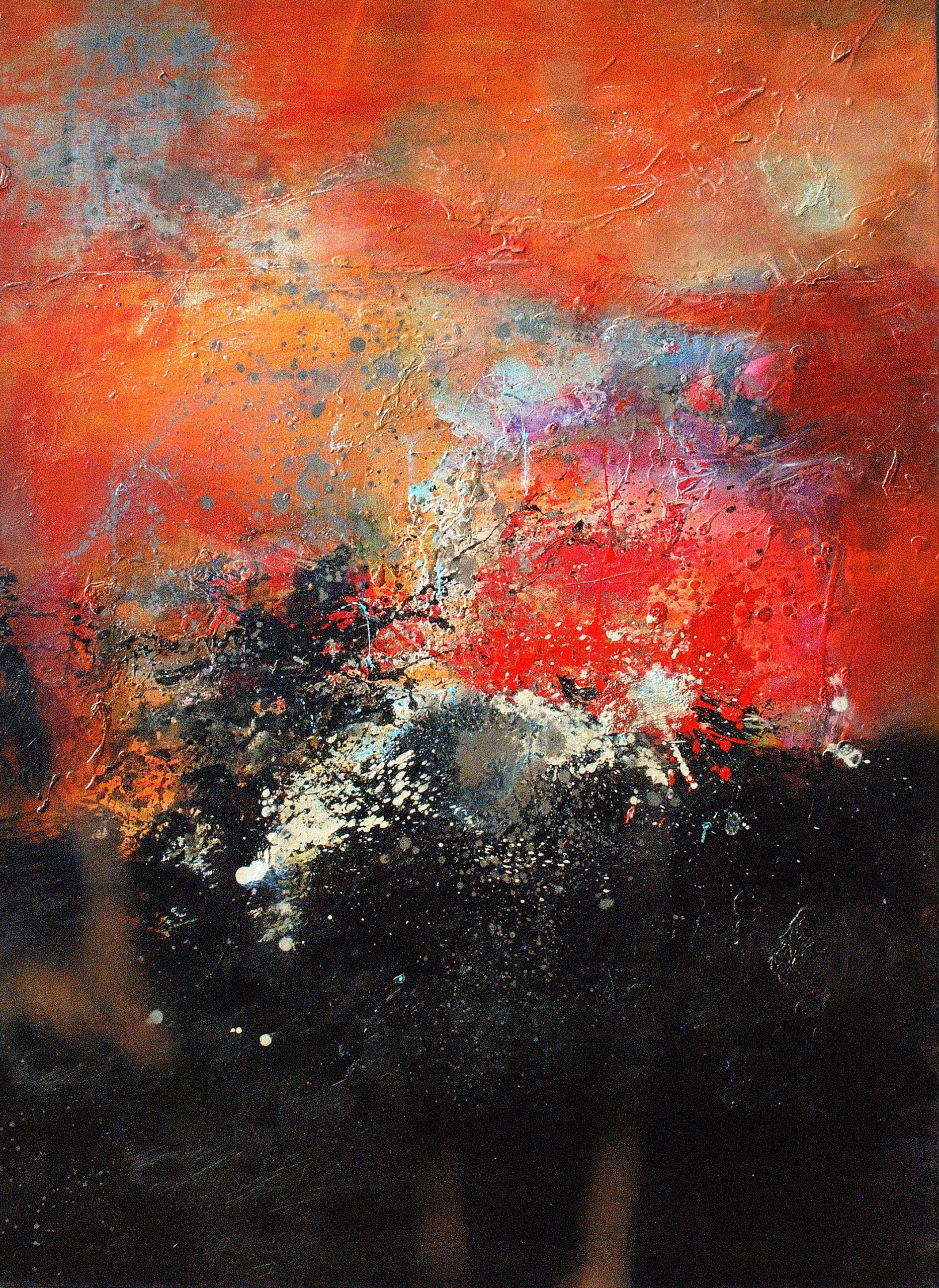 l'œuvre au noir huile sur toile  160x120 cm