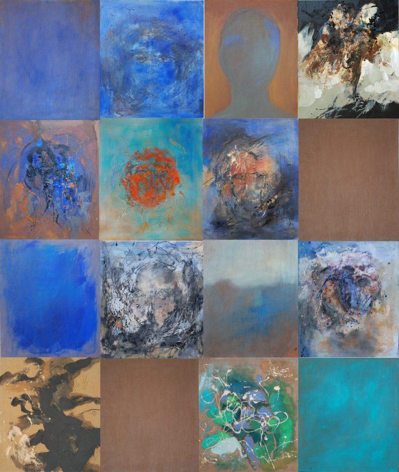 Mosaïque - 16 pièces - huile sur Mosaïque - 16 pièces - huile sur toile - 260x220 cm toile - 260x220 cm