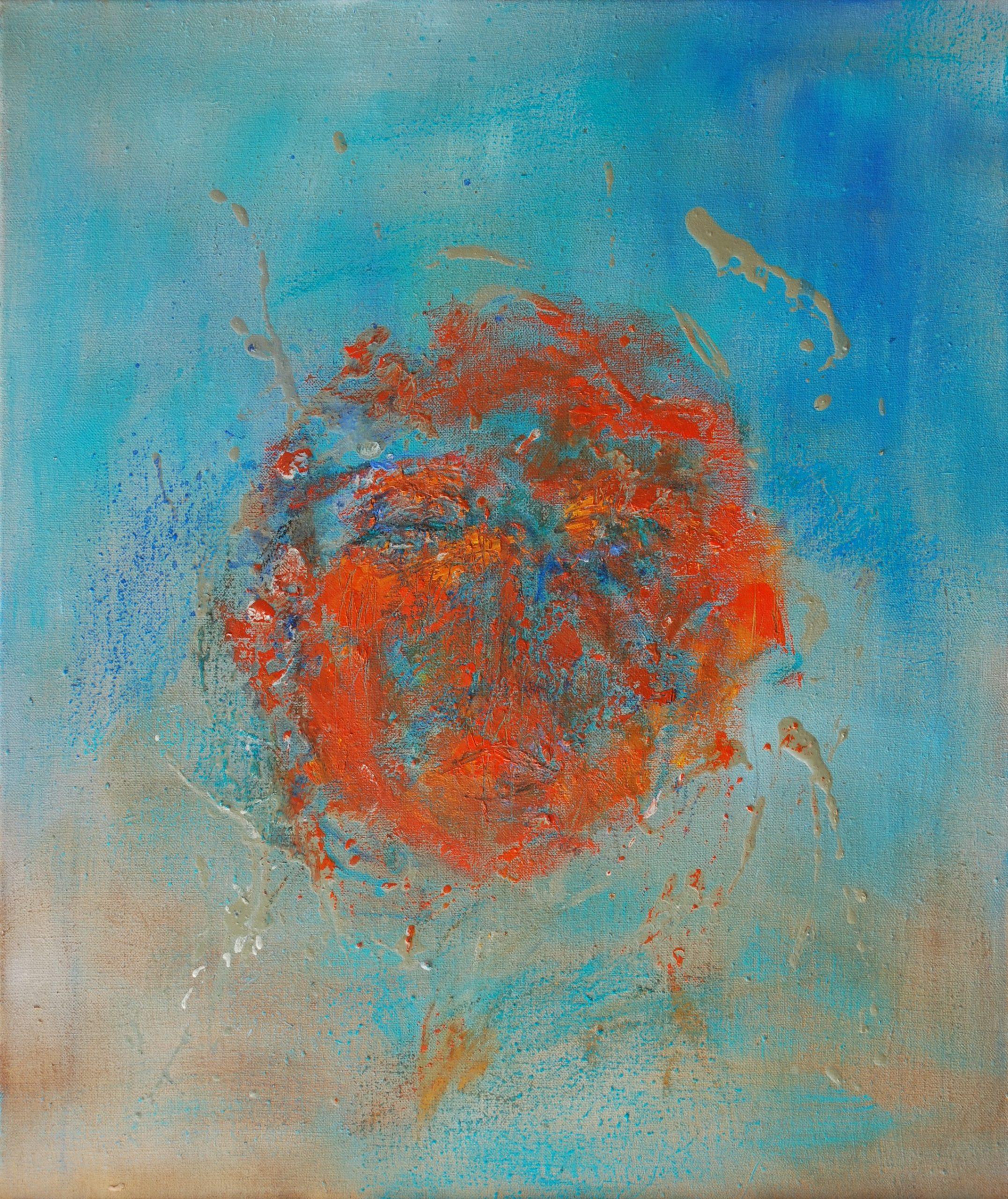métamorphose 2 huile sur toile 65x55 cm
