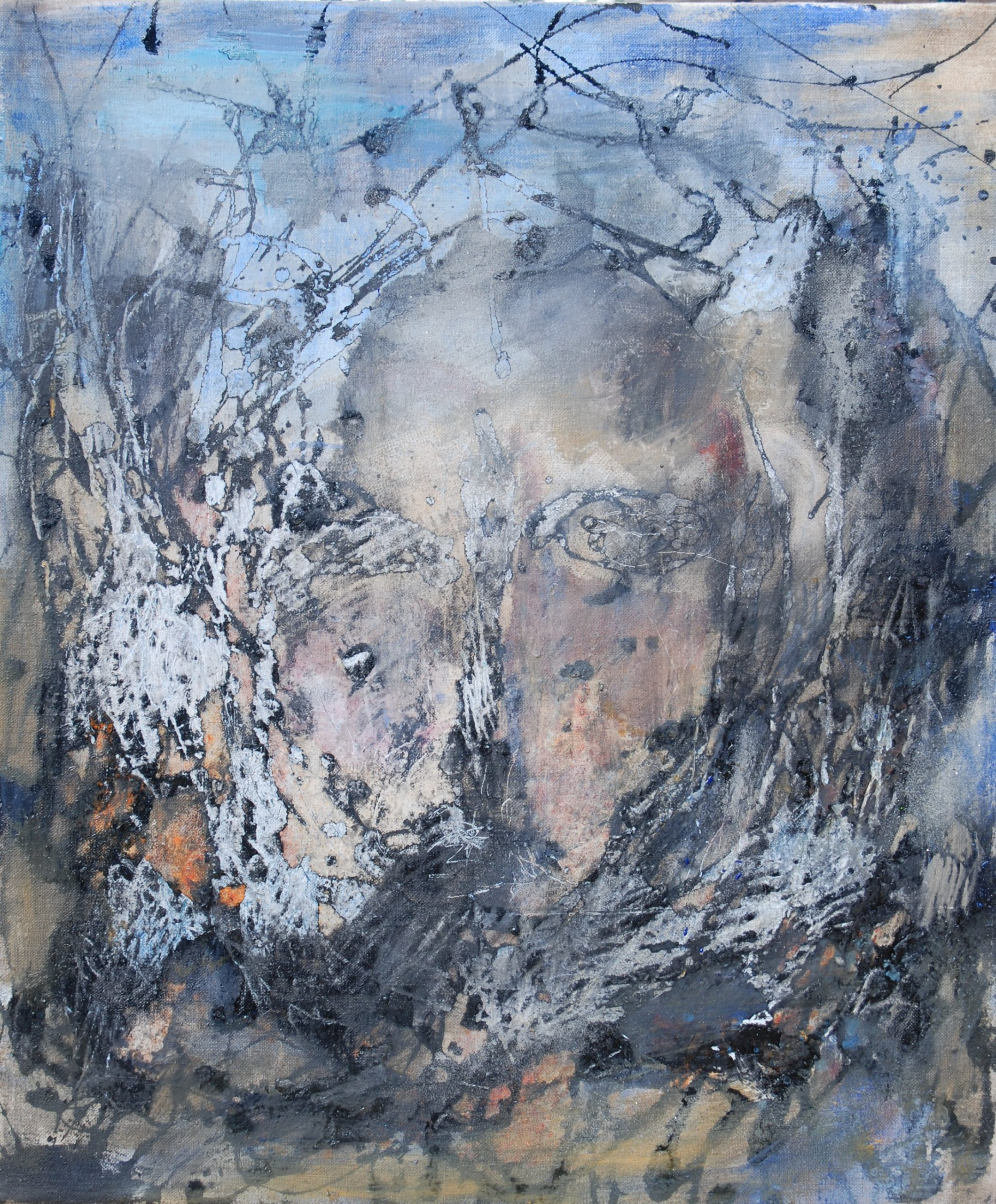 métamorphose 6 huile sur toile 65x55 cm