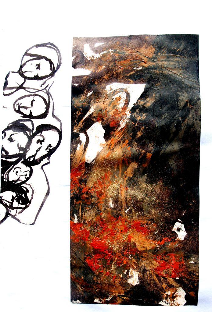 sans titre  huile sur toile 23x46cm