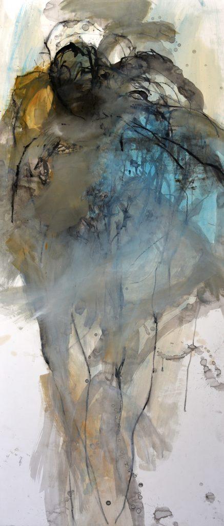 Géant  V  huile sur papier marouflé sur toile 150 x 65  cm
