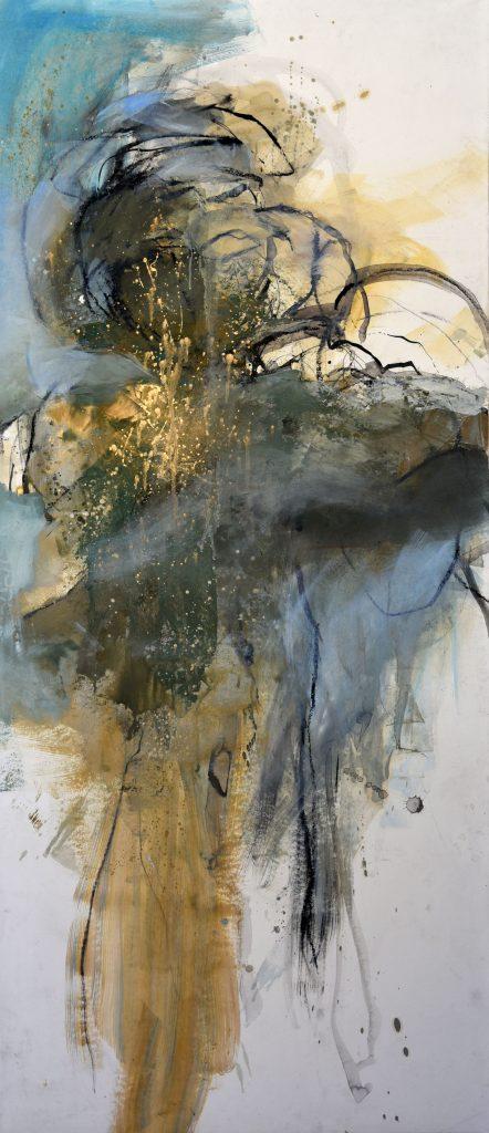 Géant  IV  huile sur papier marouflé sur toile 150 x 65  cm