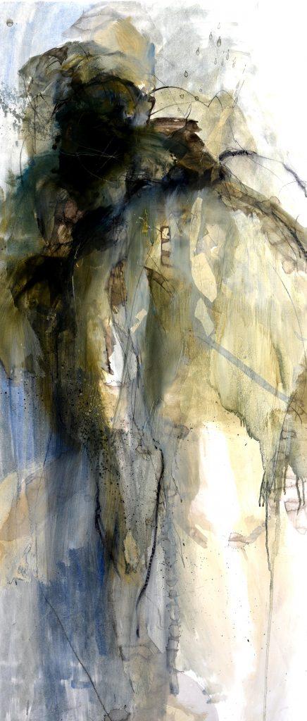 Géant VI huile sur papier marouflé sur toile III 150x65cm