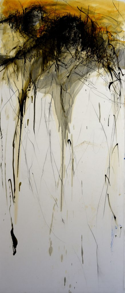 Géant  IX huile sur papier marouflé sur toile 150 x 65  cm