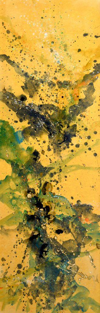 huile sur papier marouflé sur toile   XI   150 x 50cm
