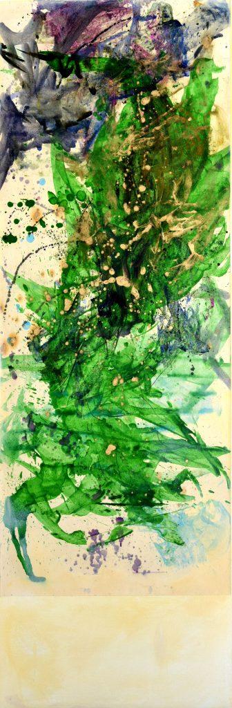 huile sur papier marouflé sur toile   VI 150 x 50cm