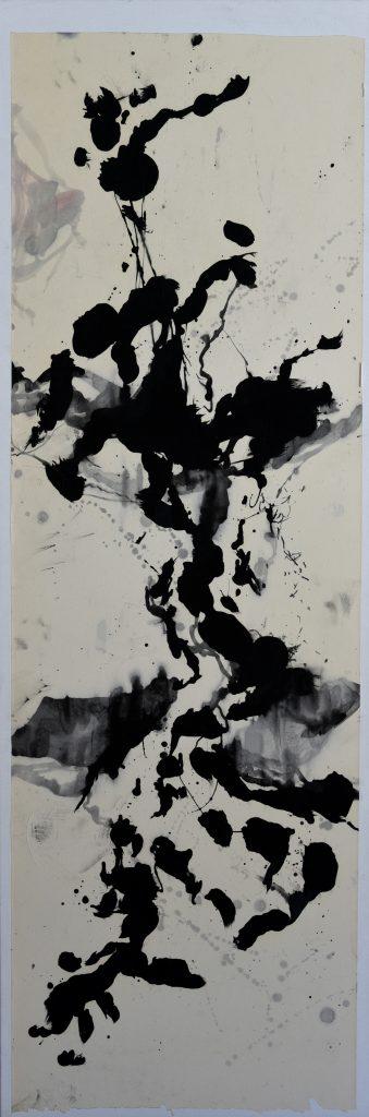 huile sur papier marouflé sur toile  VIII  150 x 50cm
