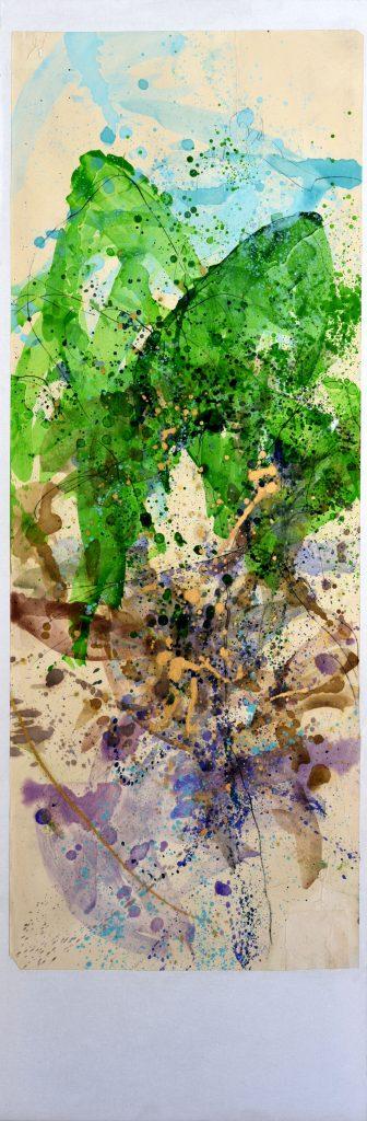 huile sur papier marouflé  V sur toile  150 x 50cm
