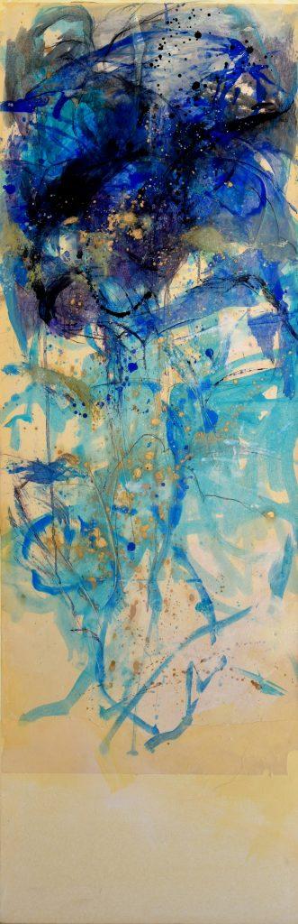 Huile sur papier marouflé sur toile I   150x50cm