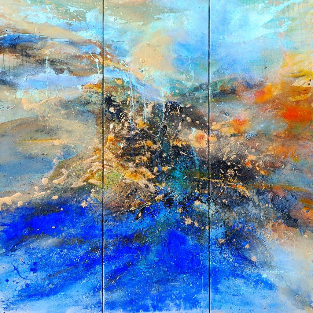 triptyque  huile sur toile 120 x 120 cm collection particulière