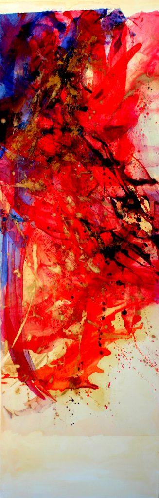 huile sur papier marouflé sur toile  III   150 x 50cm