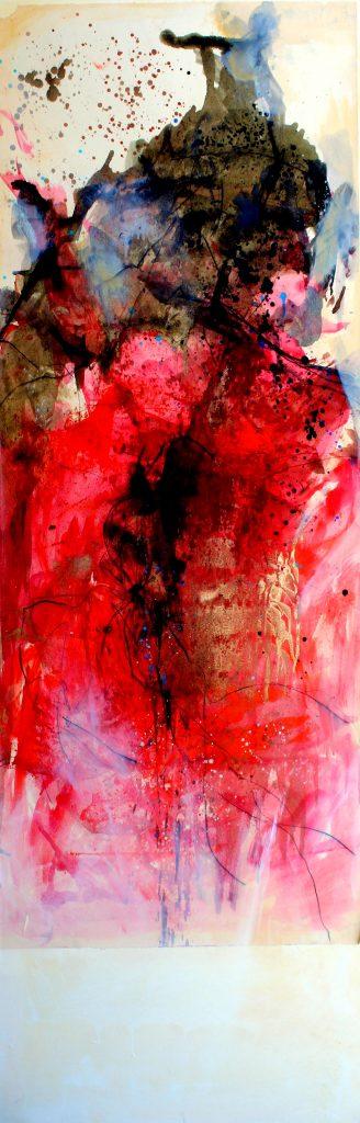 huile sur papier marouflé sur toile  IV  150 x 50cm