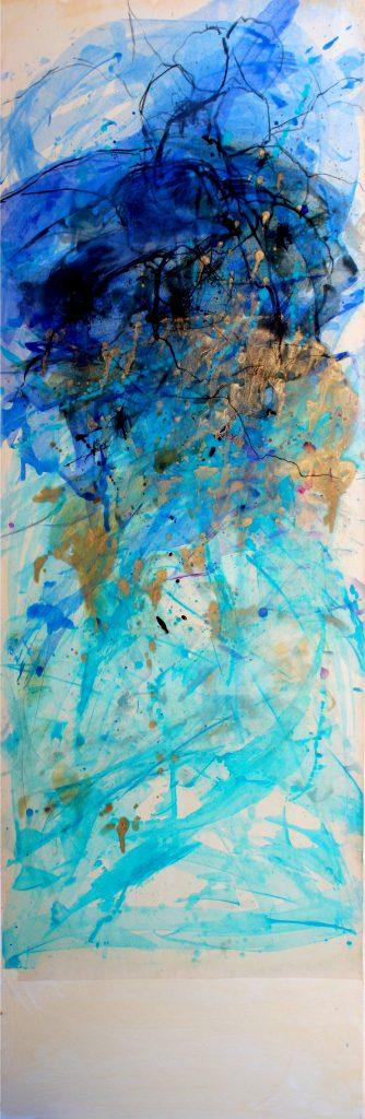 huile sur papier marouflé sur toile   II    150 x 50cm