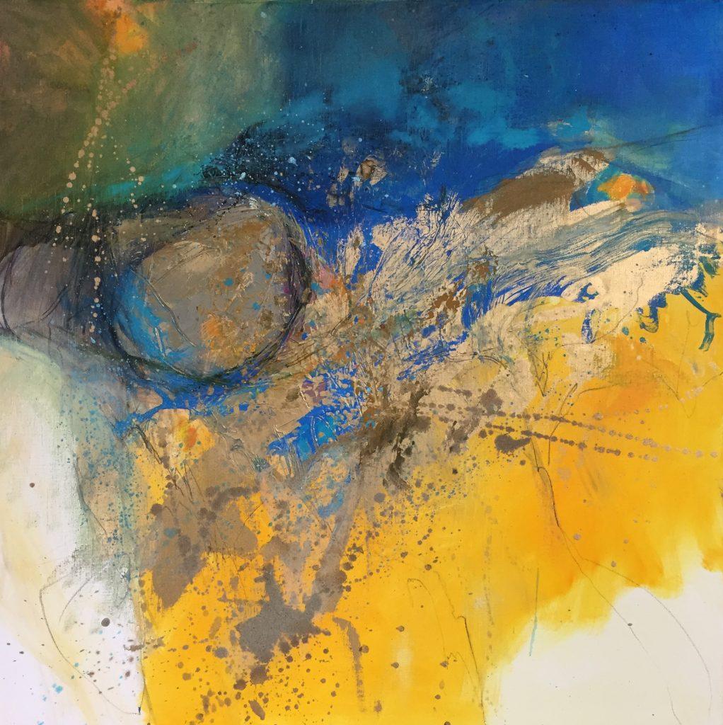 sans titre  huile sur toile 80 x 80 cm collection particulière