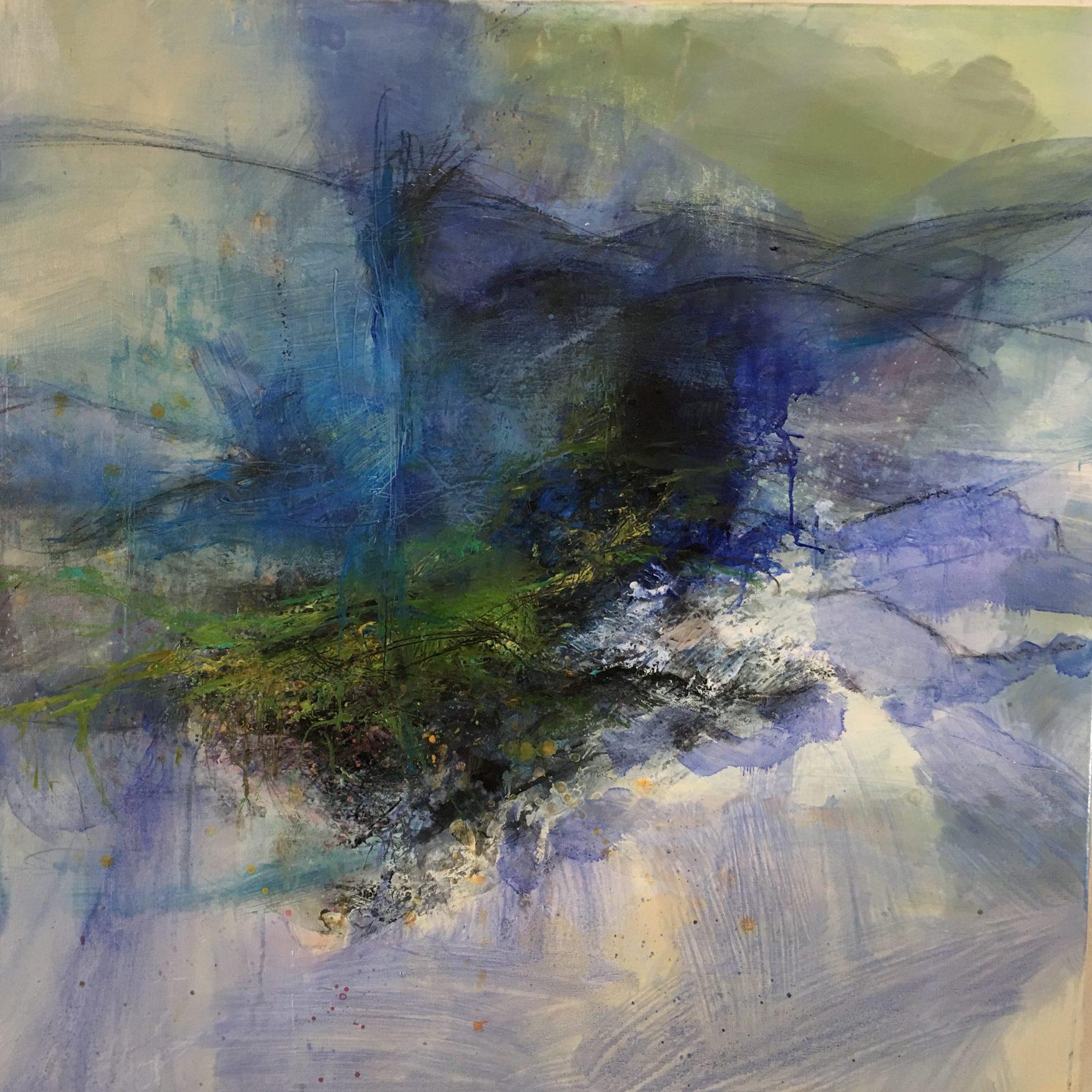 sans titre  huile sur toile 80 x 80 cm