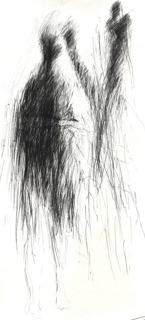 graphite sur papier 130 x 60 cm