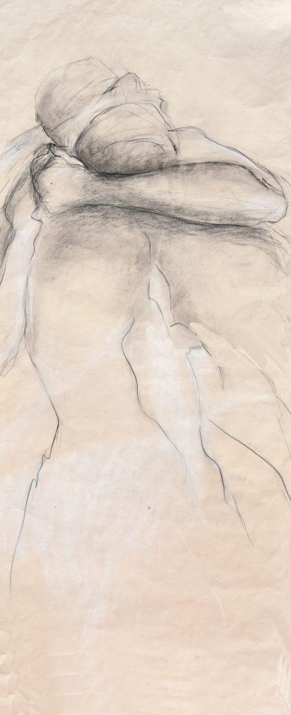 dessin graphite mine de plomb pastel sur papier 130x60cm